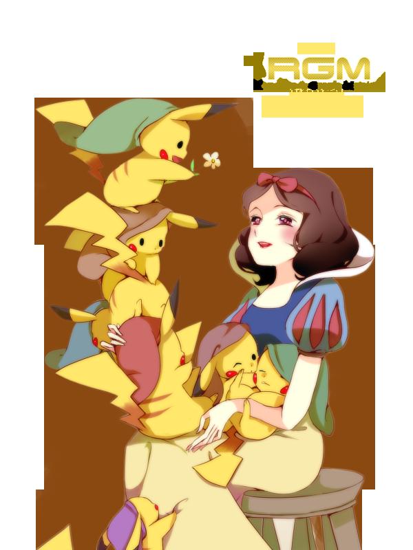 pokemon_pikachu_disney_snow_white_render_by_nezu_nyan-d5kvqqz